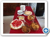 The selection of desserts
